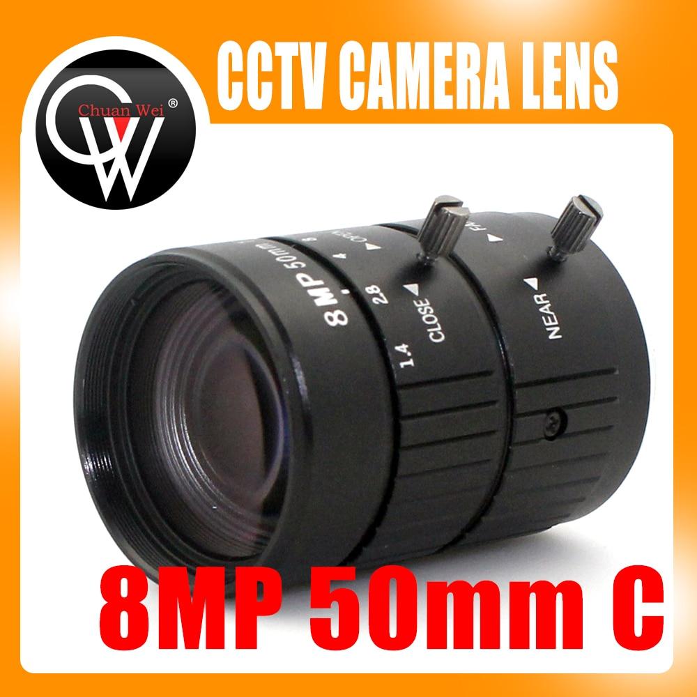 8MP 4K 1 1 4 50mm F1 2 Manual ITS Road Traffic Surveillance CCTV Lens C