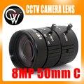 8MP 4 K 1:1. 4 50mm F1.2 Manual Do SEU Tráfego Rodoviário de Vigilância CCTV C Montagem de lente para 5MP 6MP 8 Megapixel HD Corpo de Caixa câmera