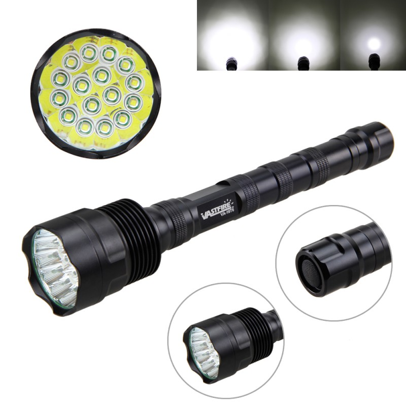 Tactical 60000lm 16x XM-T6 LED Flashlight 5 Modes White Light Recharger Hunting Torch Lamp Light Camping 3800 lumens cree xm l t6 5 modes led tactical flashlight torch waterproof lamp torch hunting flash light lantern for camping z93