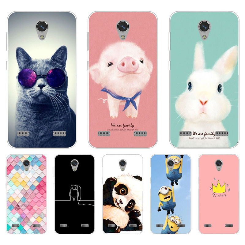 Zte Blade A520 Case,Silicon Painted Animals Painting Soft TPU Back Cover For Zte Blade Ba520 A 520 Protect Phone Cases Shell