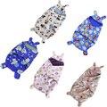 Новорожденный Ребенок Спальный Мешок Младенца Хлопка Мягкий Теплый Спальный Мешок для Зимнего Sleepsack Симпатичные Печать Пеленальный Одежда