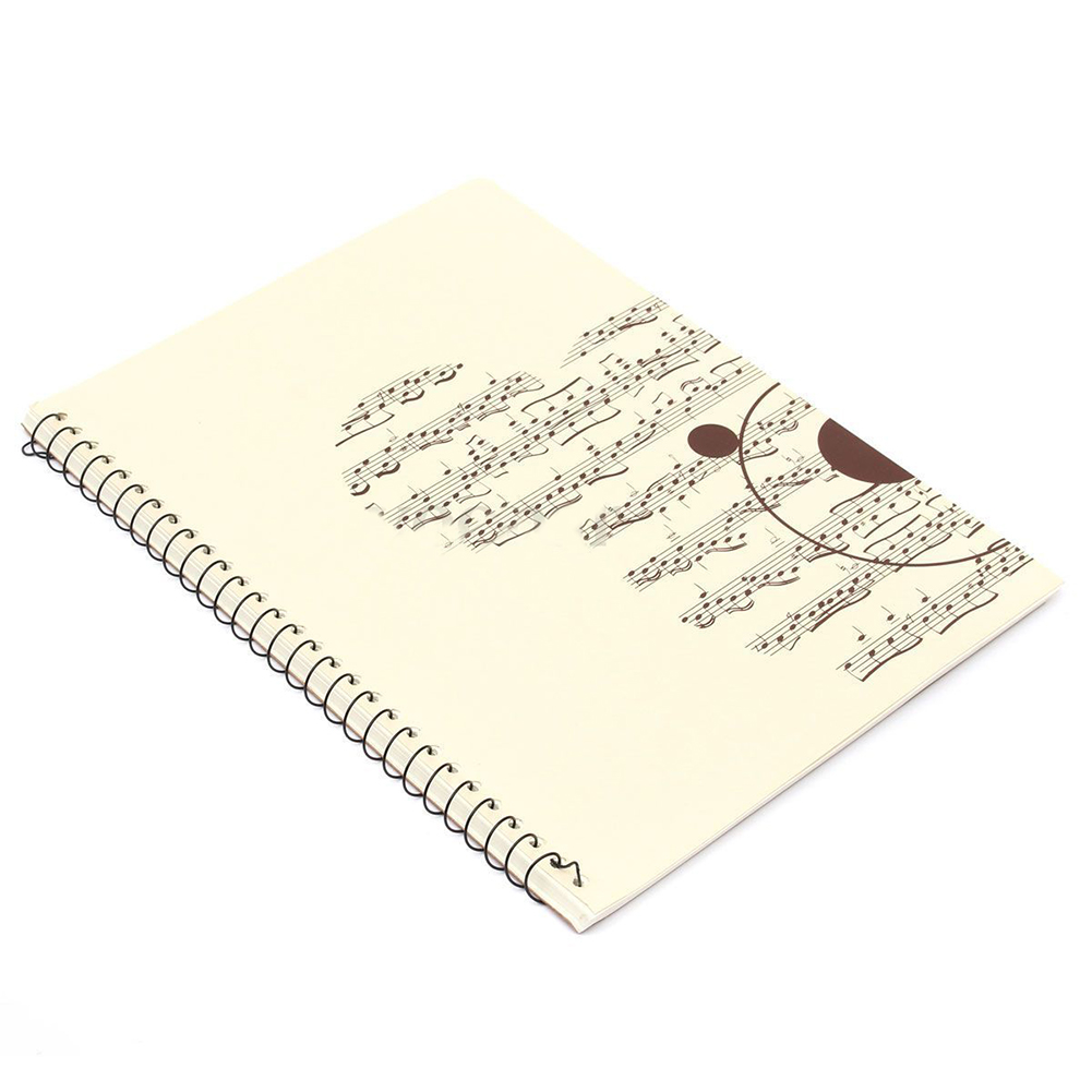 Scll Hot 50 Pages Small Bear Musical Sheet Manuscript Paper Stave 10 Circuit Board Composition Notebook Notation Spiral Bound In Notebooks From Office School Supplies On