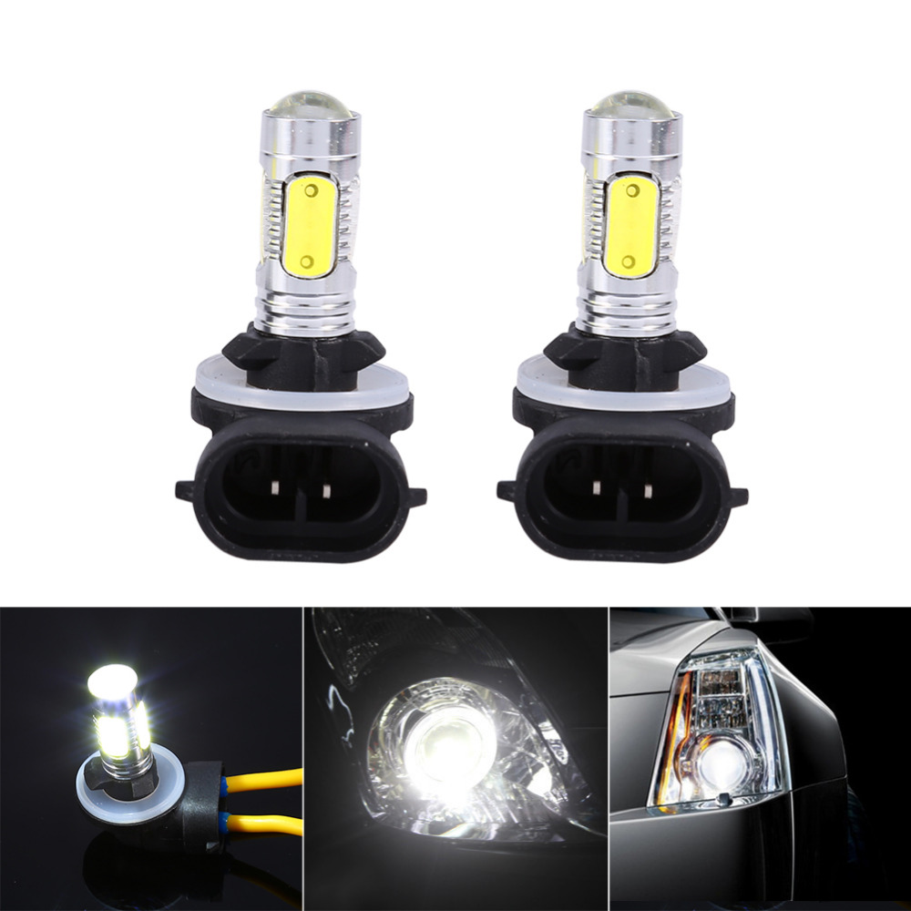 2x Car Truck 5 COB LED 7 5W 6500K HID White Fog Lights DRL Bulbs H27W