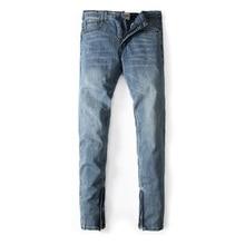 Европейский Американский Уличная Мода Мужские Джинсы Синий Цвет Денима Узкие Джинсы Мужчины DSEL Марка Уличная Брюки Лодыжки Молния Джинсы