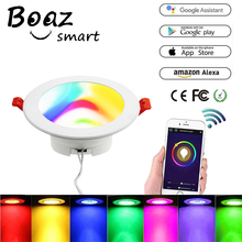 Boaz 4/6 Inch Smart Wifi Downlight Dimmable Led Color Changing  Alexa Echo Google Home Voice Control Bathroom