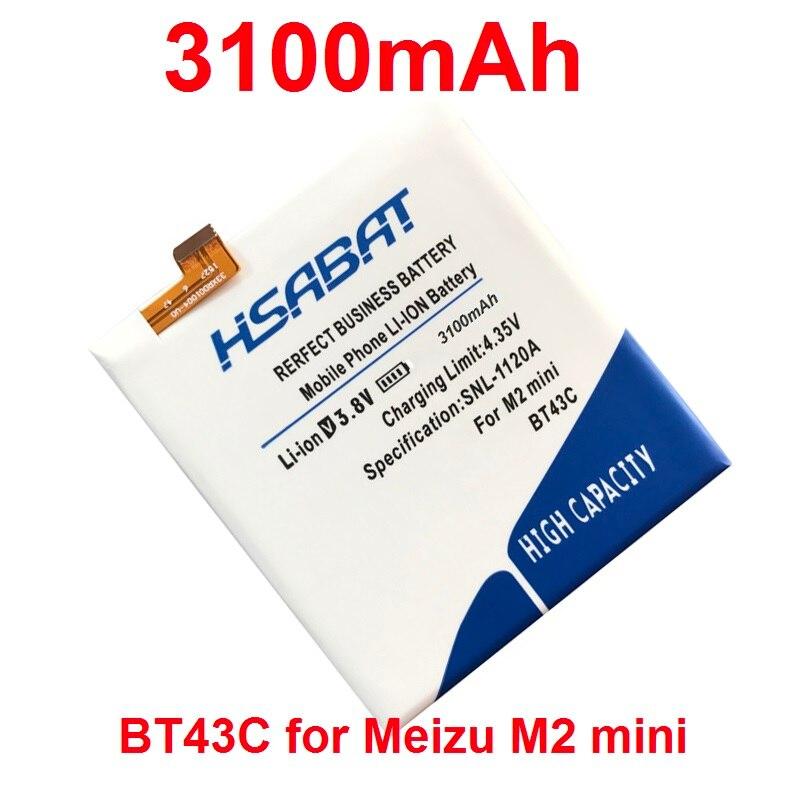 imágenes para HSABAT BT43C 3100 mAh de La Batería para Meizu Meilan 2 M2 mini M2mini envío libre + número de seguimiento
