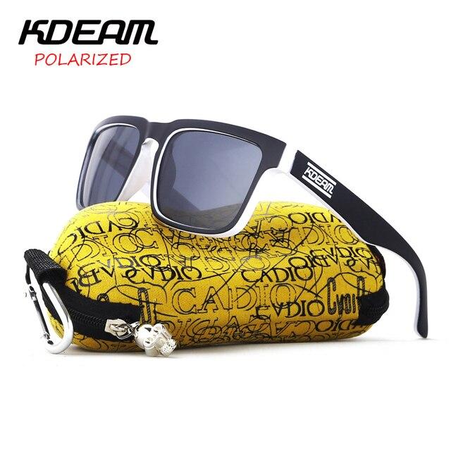 b2c6516b02 KDEAM Verão Quadrados Óculos De Sol Óculos de Sol Dos Homens Polarizados  Esporte Black & White
