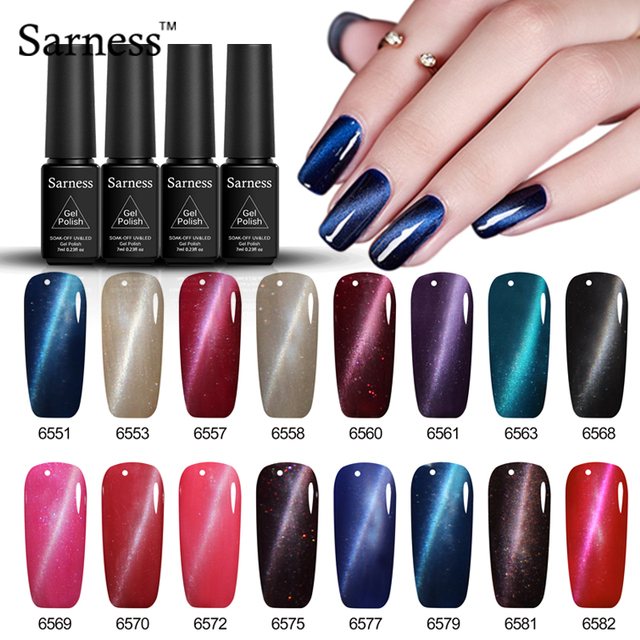 Sarness Classic Cat Eye Nail GEL Polish UV Led Long Lasting 7ML 24 Colors Gel