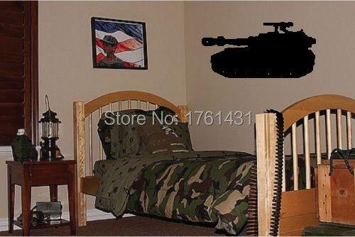 Grote tank jongens militaire slaapkamer behang muur art decals