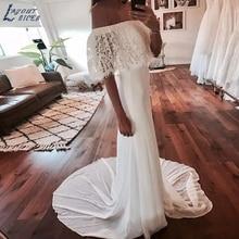 LAYOUT NICEB SHJ706 Beach Wedding Dresses 2019 Boho
