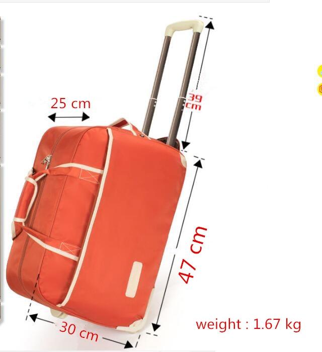 Grande capacité nylon tissu imperméable Maletas De Viaje Con Ruedas Envio valises bagages Set roulant voyage sac roulettes fixes