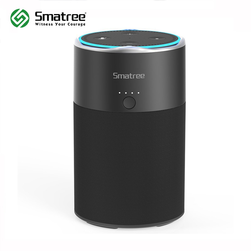Smatree Speaker with Portable Battery Charging Station for Echo Dot 2nd Generation