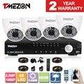 Tmezon ahd dvr 4ch 4 pcs 2.0mp 1080 p câmera de segurança de vigilância cctv sistema de Auto IR-Cut Visão Noturna de até 40 m 1 TB 2 TB HD Kit