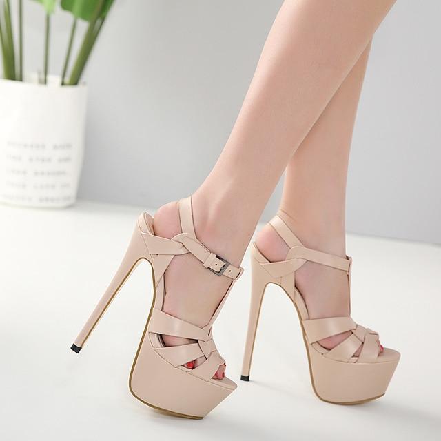 Big Sale #08909e Beige Sandals 2020 Ankle Strap Sandals