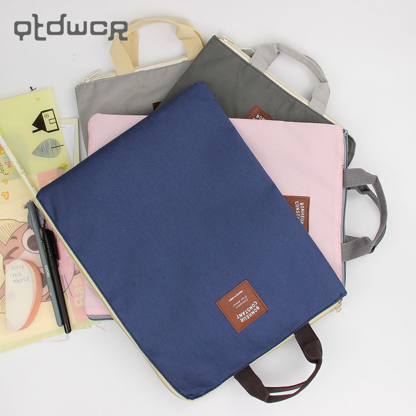 1PC New A4 Oxford Cloth File Folder Bag Office Supplies Organizer Bag Document Organizer vividcraft mini accordion file folder bag 24 layers organizer bag document archivador documentos organizer office supplies