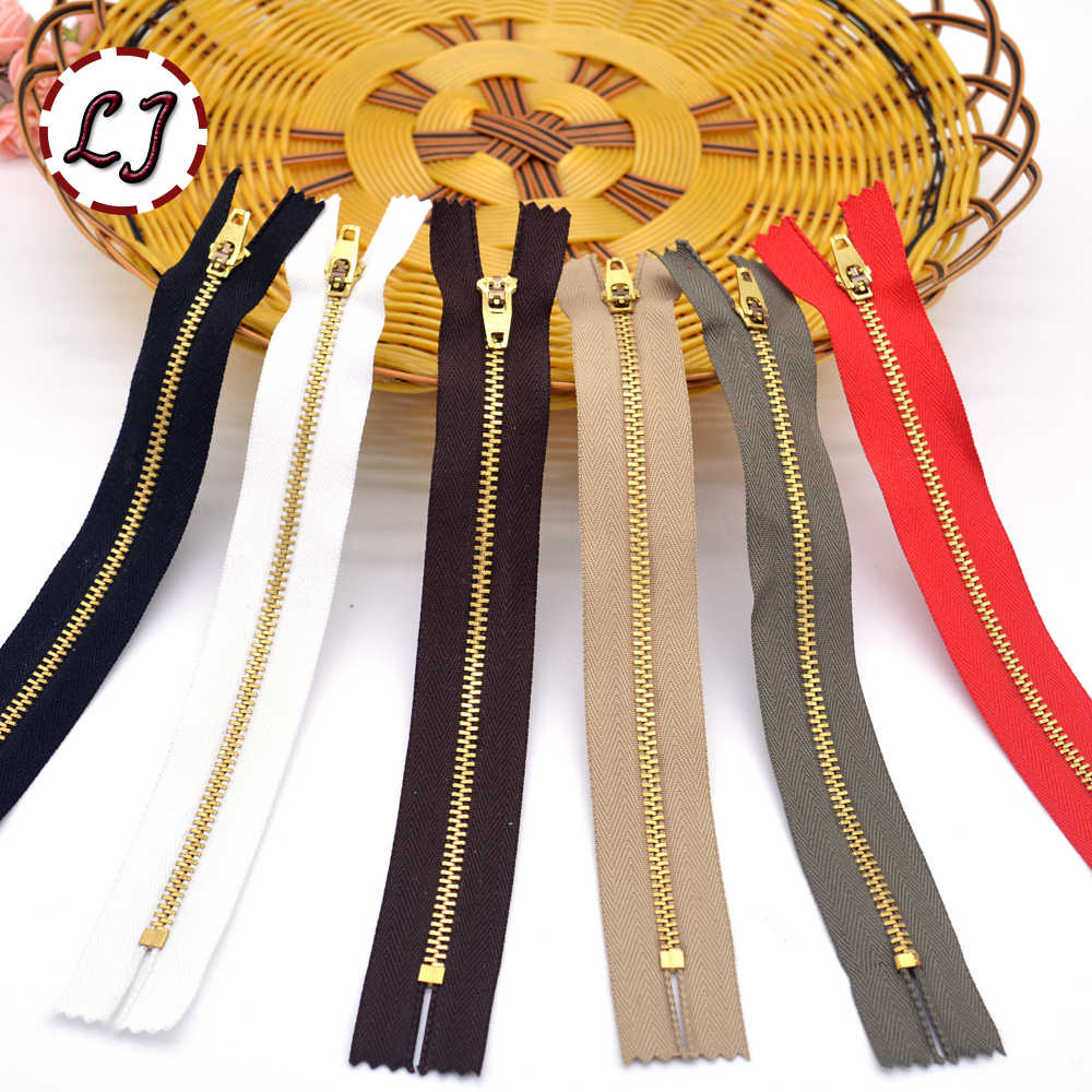 6 pcs/lot 4 # Zipper tembaga, 10 cm / 13 cm / 15 cm / 18 cm hitam kunci auto Zipper DIY untuk tas jean, Sepatu sabuk garmen, Aksesoris jahit DIY