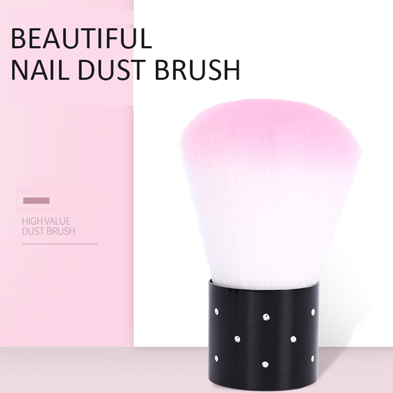 Soft Nail Dust Cleaning Brush Pink Blue Purple Orange Dust Clean Brush Manicure Pedicure Tool For Acrylic UV Gel Nail Art in Nail Brushes from Beauty Health