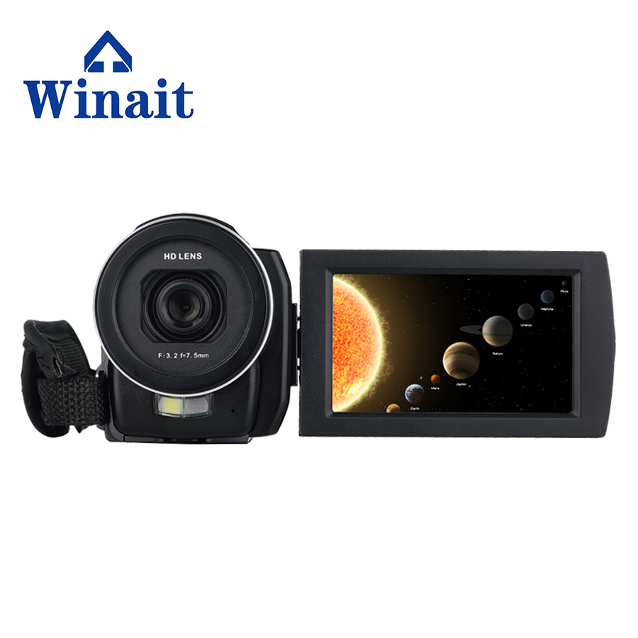 цены Free Shipping Winait HDV-F5 with 3.0'' touch display and 16x digital zoom