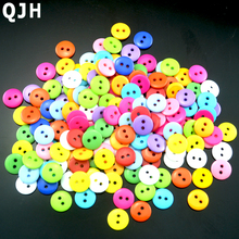 200pcs 11.5mm Bulk Children's Clothing decorative Button Resin Scrapbook Knopf Bouton DIY Apparel Sewing Accessories Tool