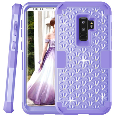 Heavy Duty Hybrid Case For Samsung Galaxy S9 S9Plus Shockproof Armor Rugged Case Cover Hard PC + Soft Rubber Silicone Phone Case (35)
