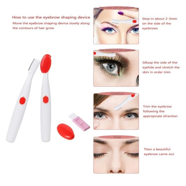Electric Eyebrow Trimmer CNAIER Body Shaver Facial Hair Epilator Unisex Underarm Hair Removal Shaver AE-858 3