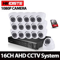 HKIXDISTE 16CH CCTV System Kit AHD DVR Dome Indoor 2 0mp Hd Cameras With IR CUT