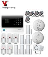 YoBang безопасности G90B сенсорная клавиатура загрузки Дисплей WI FI GSM сигнализация дома охранной сигнализации Системы Android IOS приложение удаленн