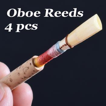 4 szt Obój Reed medium soft z pudełkiem akcesoria do instrumentów muzycznych tanie i dobre opinie NoEnName_Null Oboe Reeds none Cane cane cork