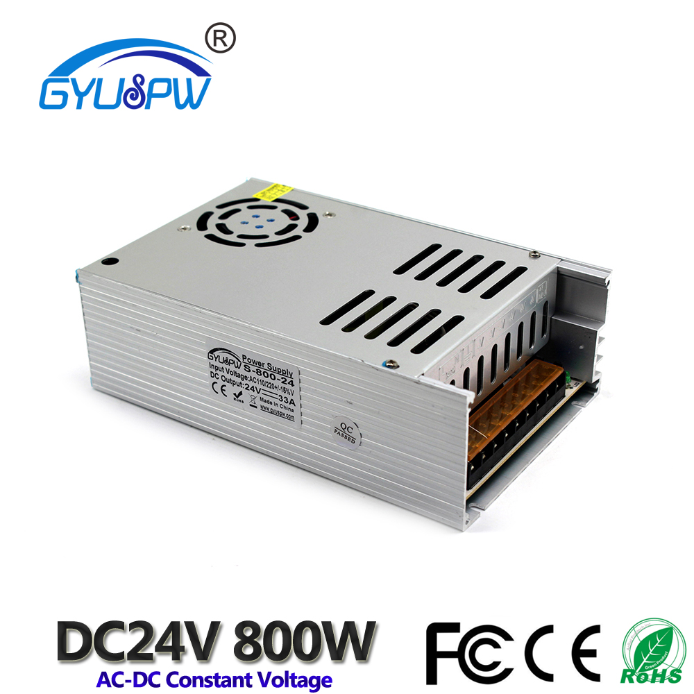 New Model ac dc Power Supply 24V 33A 800W AC DC Converter 220v 110V LED Driver