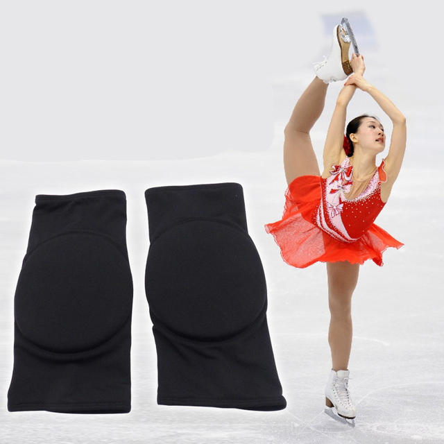 One Pair Professional Children Kids Knee Soft Pad Ice Figure Skating Skiing Protective Gear UNBreak Pads Thicken Breathable