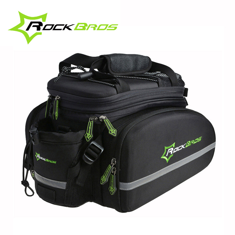 Rockbros Bicycle Bag Large Capacity Multifunctional Bicycle Rear Seat Bag Cycling Rack Trunk Bag Travel Bag Bicycle Accessories rockbros large capacity bicycle camera bag rainproof cycling mtb mountain road bike rear seat travel rack bag bike accessories