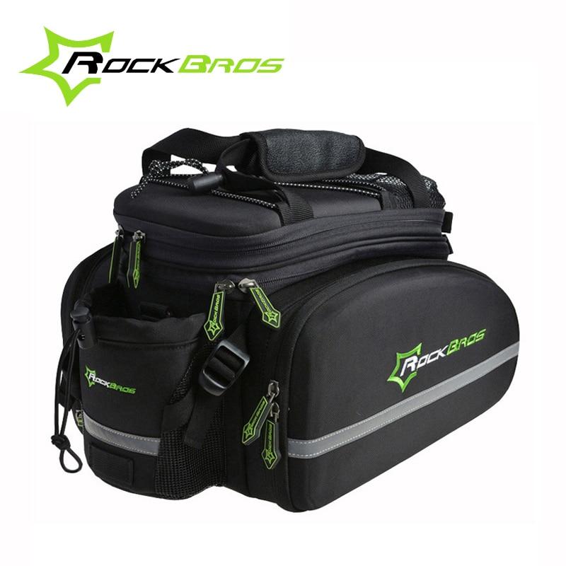Rockbros Bicycle Bag Large Capacity Multifunctional Bicycle Rear <font><b>Seat</b></font> Bag Cycling <font><b>Rack</b></font> Trunk Bag Travel Bag Bicycle Accessories