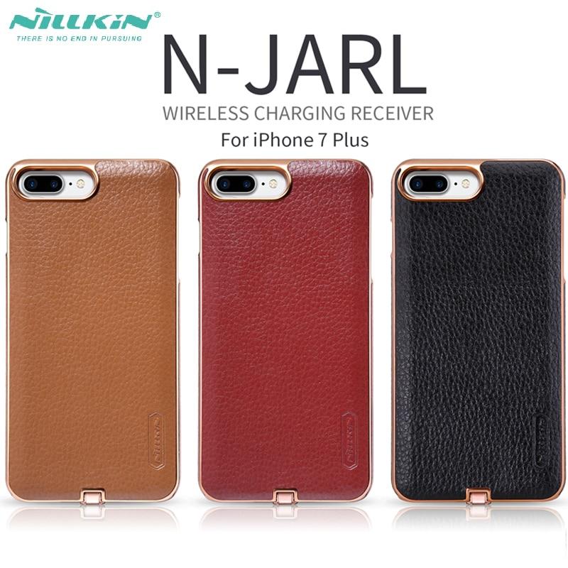 Цена за Для iPhone 7 Plus беспроводной зарядки чехол Nillkin N-Ярл 5.5 дюйма Ци приемник для Iphone7 плюс защитный чехол