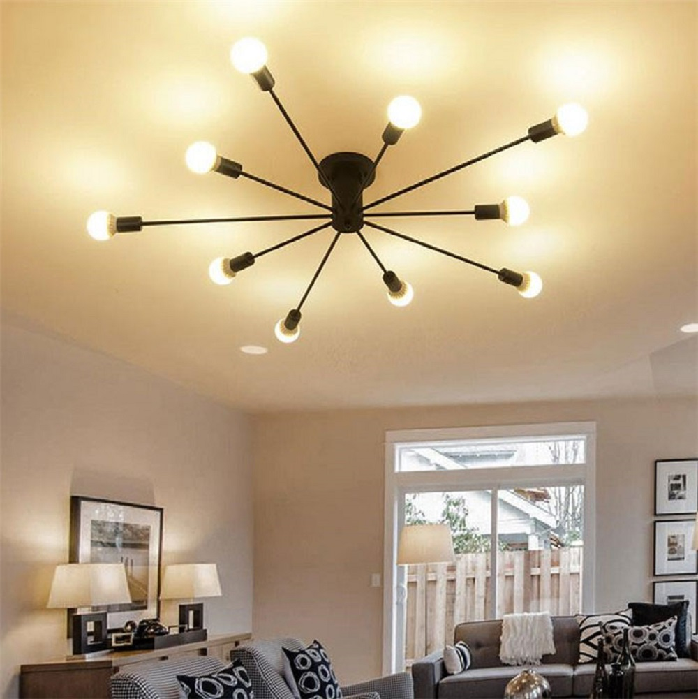 Modern art ceiling chandeliers lamparas de techo lustre for Living room light fixtures
