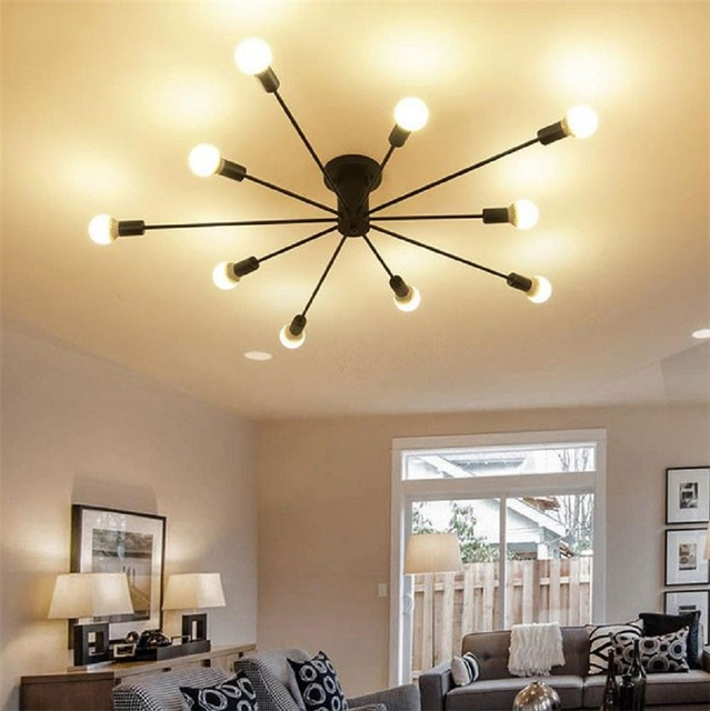 buy modern art ceiling chandeliers lamparas de techo lustre luminaria abajur. Black Bedroom Furniture Sets. Home Design Ideas
