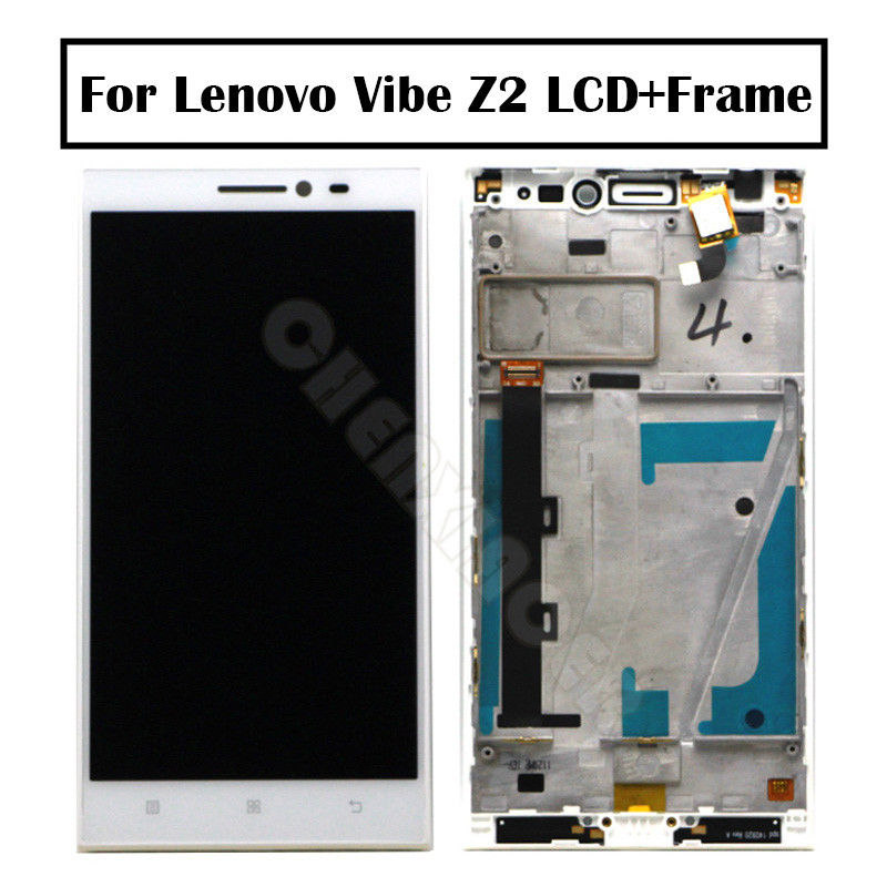 For <font><b>Lenovo</b></font> <font><b>Vibe</b></font> <font><b>Z2</b></font> <font><b>LCD</b></font> <font><b>Display</b></font> <font><b>Touch</b></font> <font><b>Screen</b></font> Panel Assembly With Frame For <font><b>Lenovo</b></font> K920 mini <font><b>Display</b></font> <font><b>LCD</b></font> Replacement Spare Parts image