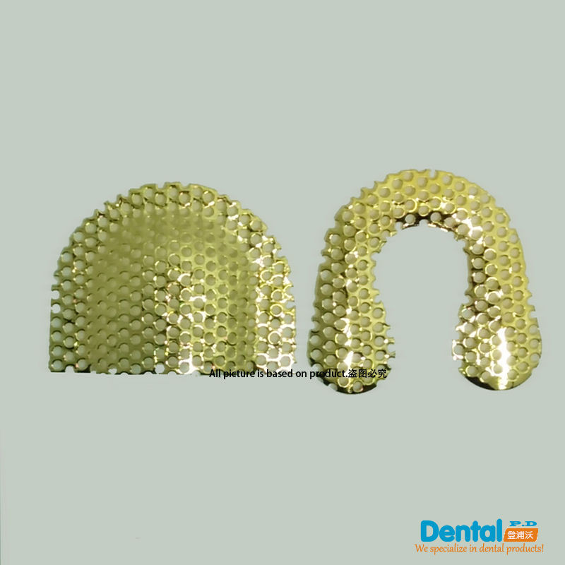 8pairs (16pcs) Rustfrit stål Stærk Net Dental Lab Denture materialer Golden Strong Net