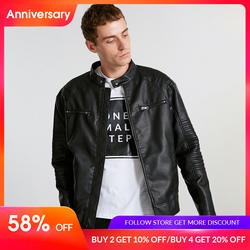 JackJones для мужчин весна повседневное куртка из искусственной кожи узкое повседневное пальто брендовая одежда модные пальто мужской Верхняя
