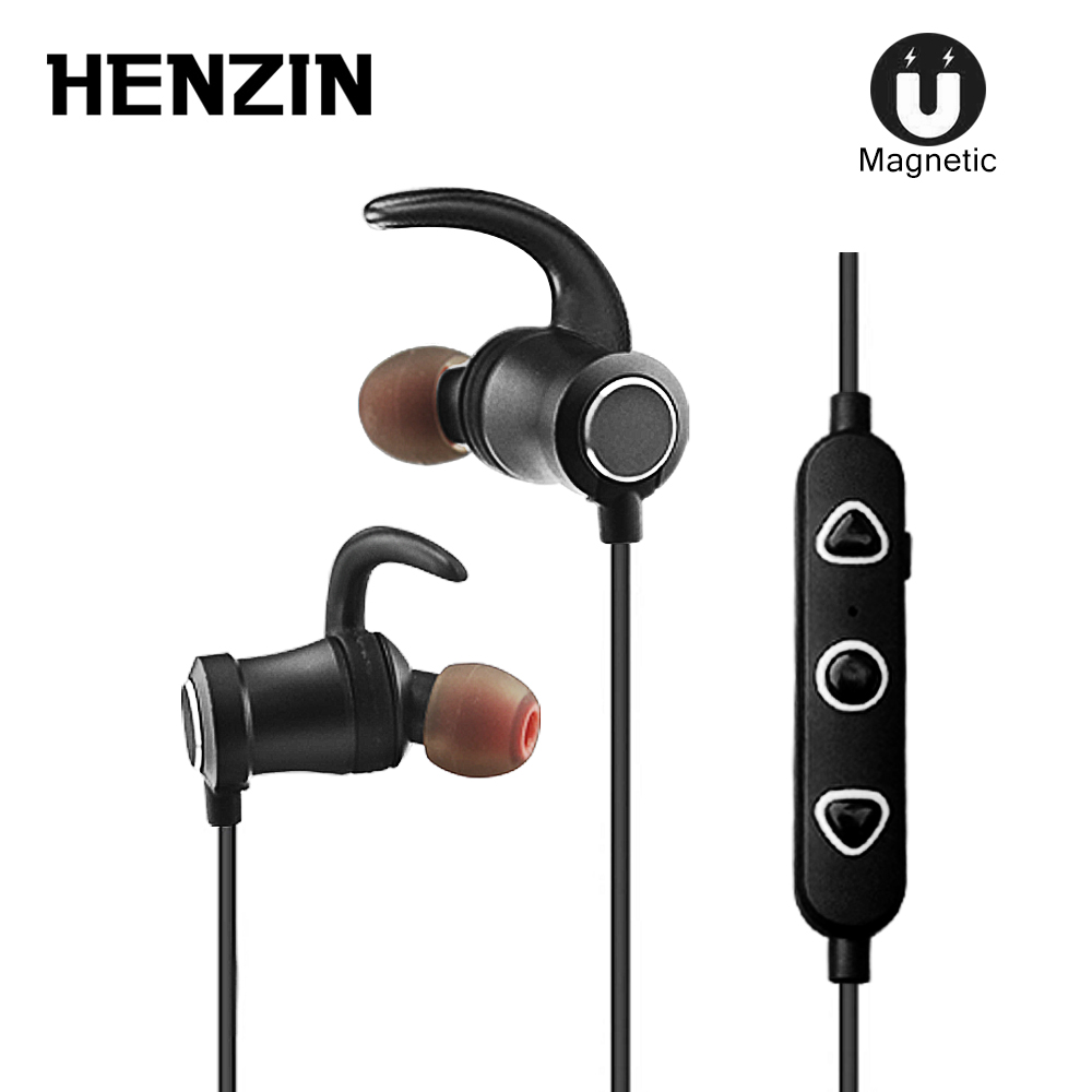 Metal Bluetooth Earphones in ear Wireless Earphones Sport Magnetic Earpiece with Microphone Bluetooth Earbuds for Mobile Phone m320 metal bass in ear stereo earphones headphones headset earbuds with microphone for iphone samsung xiaomi huawei htc