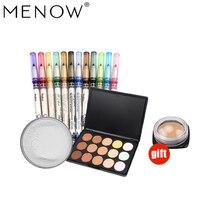Buy 3 Get 1 MENOW Make Up Set Concealer Contouring Powder 12 PCS Eyeliner Lip Pencil