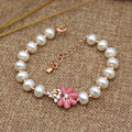 New bracelet 8-9mm light natural freshwater pearl in impeccably bracelet sunflower bracelet female fashion jewelry bracelet
