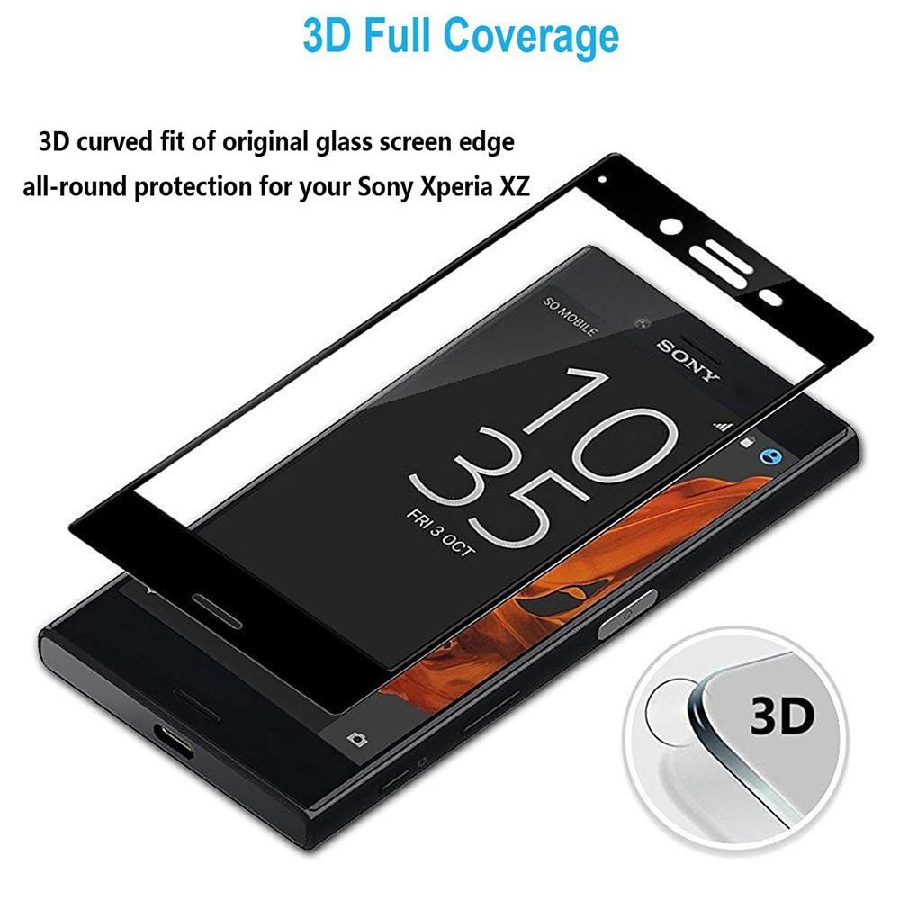 UVR 2 PCS 3D Melengkung Pelindung Layar Kaca Tempered Untuk Sony - Aksesori dan suku cadang ponsel - Foto 5