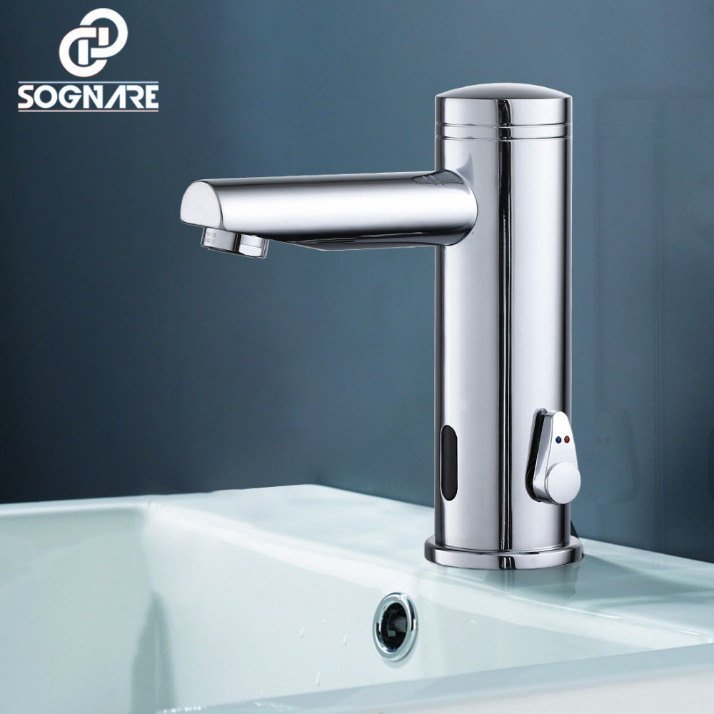 купить SOGNARE Hot Cold Infrared Sensor Faucet Basin Faucet Torneira Water Mixer Bathroom Basin Sensor Taps Hand Touch Basin Faucet Tap по цене 5435.72 рублей