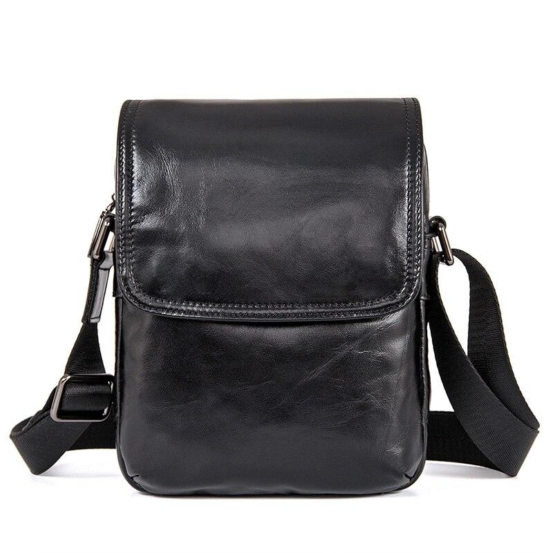 Real Cowhide Cross Body Messenger Bag Travel Fashion Mens Genuine Leather Shoulder Bag lanspace men s leather shoulder bag real leather waist bag fashion leather travel bag