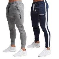 Мужские высококачественные Брендовые мужские штаны для фитнеса, повседневные эластичные штаны, одежда для бодибилдинга, повседневные каму...