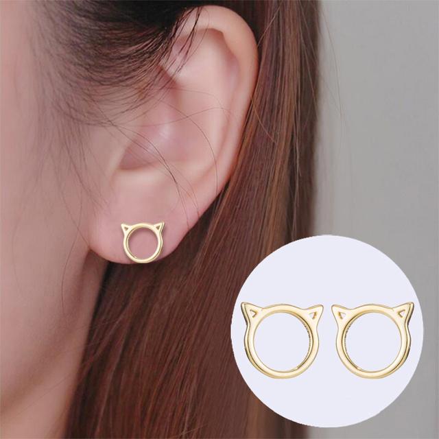 Women's Cute Cat Shaped Earrings