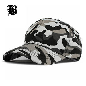 6dc22b75 FLB Fitted Baseball Cap Camouflage Snapback Gorras dad Hats