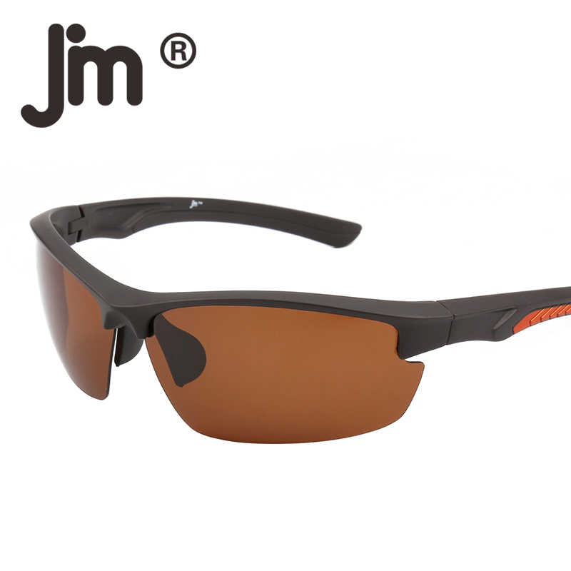 47bbc52c91a5 JM Sport Polarized Semi Rimless Wrap Running Golf Hiking Sunglasses Men  Women Sun Glasses Outdoor Goggles