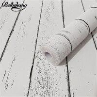 beibehang Retro wood grain Self adhesive wallpaper waterproof and moisture proof PVC environmental wallpaper papel de parede