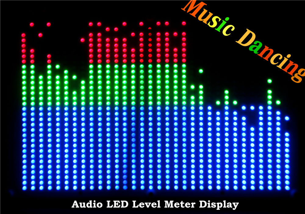 Douk audio RGB 32*32 Screen Audio Indicator LED VU Meter Music Display Spectrum Analyzer For Amp PC MP3